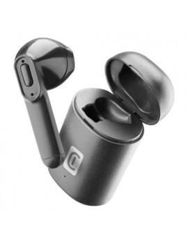 Auricolari microfono bluetooth Mono Capsule con Box di ricarica Cellular Line