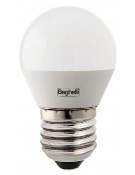10 X BEGHELLI LED 56821 SFERA E27W5 FREDDA 6500K * BEGHELLI