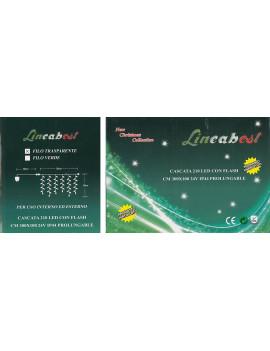 1 X CASCATA 210 LED BIAN.+FLASH X ESTERNI 300X100