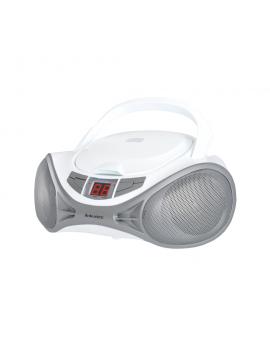 MAJESTIC AH1262RWHSL RADIOREGISTRATORE LETTORE CD BOOM BOX AUX IN WHITE/SILVER