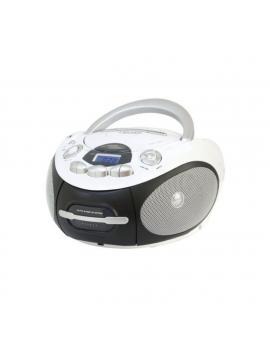 MAJESTIC AH2387R RADIOREGISTRATORE LETTORE CD MP3 USB/AUX BOOM BOX NERO/BIANCO