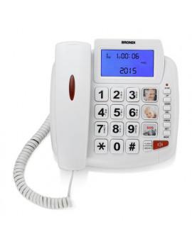 Telefono fisso BRAVO 90 LCD White Brondi